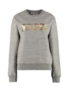 Golden Goose Aiako Logo Detail Cotton Sweatshirt - grey