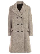Aspesi Coat Double Breasted Revers - Naturale