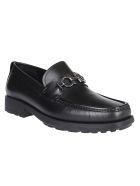 Salvatore Ferragamo Black Leather Shoes - Black