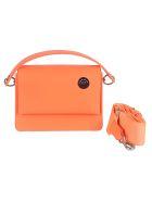 Kara Chain Strap Detachable Pocket Detail Shoulder Bag - Arancio