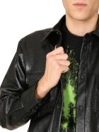 MSGM Faux Leather Shirt - NERO