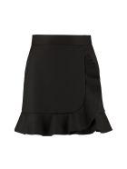 RED Valentino Ruffle Detail Mini-skirt - black