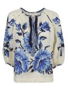 Vita Kin Embroidered Floral Blouse - Basic