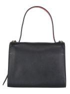 Alexander McQueen Shoulder Bag - Black+red