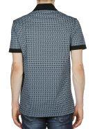 Salvatore Ferragamo Geometric Print Polo Shirt - Blue