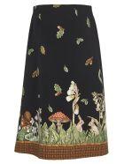 Vivetta Wood Fantasy Skirt - Black