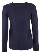 Ralph Lauren Embroidered Logo Sweater - Hunter Navy