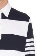 Thom Browne 'rugby Stripes' Polo - Black&White