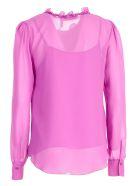 See by Chloé Frilled Neck Blouse - 52o Striking Purple