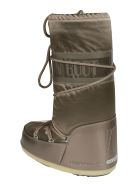Moon Boot Logo Detail Leg Laced Boots - Pale Brown