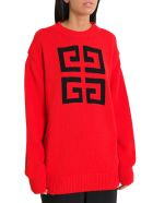 Givenchy 4g Sweater - Rosso/nero