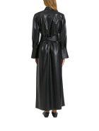 Nanushka Rosana Pinafore Dress In Vegan Leather - Nero