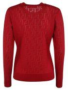 Fendi Ff Cotton Sweater - red