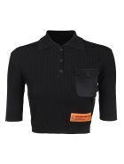 HERON PRESTON Polo Crop Pocket - Black