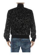 Versace Barocco Print Velvet Sweatshirt - Black