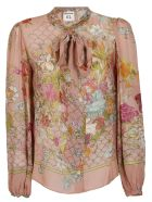 SEMICOUTURE Floral Print Shirt - Pink
