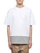 Marni Layered Logo T-shirt - Bianco grigio