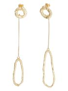 Forte_Forte Earrings With Oval Pendant - Gold