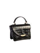 Wandler Crocodile Print Bag - Black