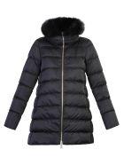 Herno Black Fur Detail Padded Jacket - Black