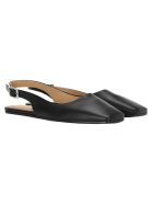 MM6 Maison Margiela Mm6 Sling Back Square Point Ballerina - Black