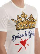 Dolce & Gabbana Crown Heart Print T-shirt - White