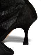 MM6 Maison Margiela Sheer Ankle Boots - Nero