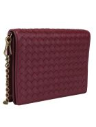 Bottega Veneta Chain Wallet - Bordeaux