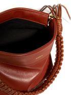 YUZEFI Giant Coin Purse Leather Bag - Tan