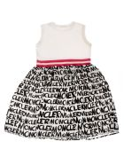 Moncler Kids Logo Skirt All-over Print Dress