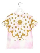 Young Versace 'barocco' T-shirt - Multicolor