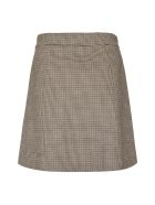 A.P.C. Sonia Checked Wool Mini Skirt - Beige