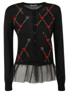 RED Valentino Woven Cardigan - Black