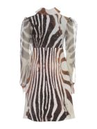 La Petit Robe Di Chiara Boni Printed Dress Voille Sleeve V Neck - Okavango