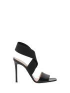 Pollini Elastic Band Sandals - Nero
