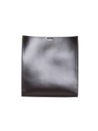 Jil Sander Black Tangle Medium Leather Bag - NERO