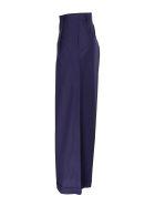 Roberto Collina wide leg cotton trousers - Blue