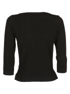 Roberto Collina Boat Neck Top - Black