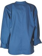 Sofie d'Hoore Lslv Shirt With Stand Up Collar - Andaman Sea