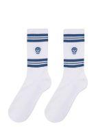 Alexander McQueen Cotton Sport Socks - White