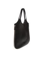 Emporio Armani Hobo Black Leather Tote With Zip Around - Black