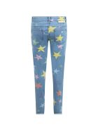Stella McCartney Light Blue Jeans For Girl With Stars - BLUE