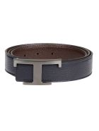 Tod's Reversible Belt - Blu/marrone