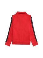 Givenchy Full Zip Hoodie - red