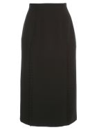 N.21 Pencil Skirt W/rouches - Nero