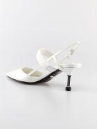 Prada Varnished Slingback Pumps - Bianco