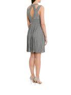Antonino Valenti Petronia Short Dress In Pleated Lurex - Argento