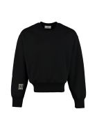Ami Alexandre Mattiussi Patch Detail Crew-neck Sweatshirt - black