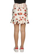 self-portrait Flared Floral Skirt - White