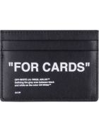 Off-White Leather Card Holder - Nero